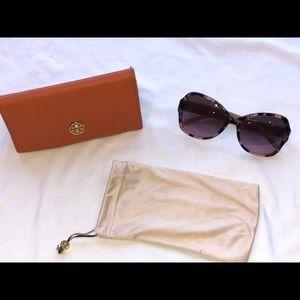 Tory Burch pink tortiseshell Ty7077 sunglasses